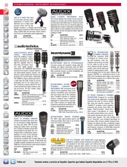 Dynamic / General Instrument Microphones Fal/Winter 2011