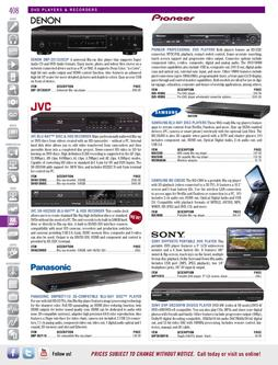 Video - DVD Players & Recorders Spring/Summer 2012
