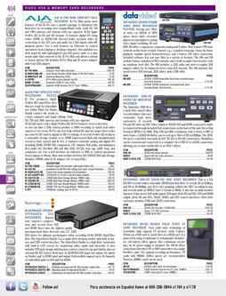 Video HDD & Memory Card Recorders Spring/Summer 2012