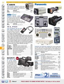 Video Cameras & Control Systems Spring/Summer 2012