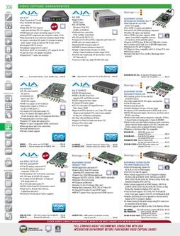 Video Capture Cards/Devices Spring/Summer 2012