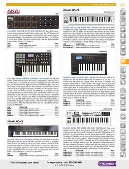 Musical Instruments - MIDI Controllers Spring/Summer 2012