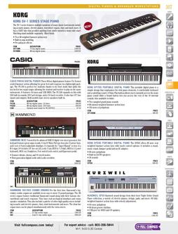 Digital Pianos & Arranger Workstations Spring/Summer 2012