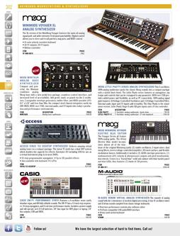 Keyboard Workstations & Synthesizers Spring/Summer 2012