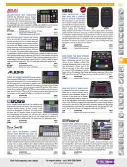 Drum Machines & Samplers Spring/Summer 2012