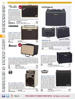 Acoustic Guitar Amplifiers Spring/Summer 2012