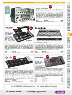 Guitar Signal Processing & Effects Pedals Spring/Summer 2012