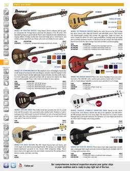 Bass Guitars Spring/Summer 2012