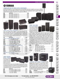 Sound Reinforcement Speakers 3 Spring/Summer 2012