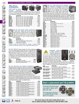 Sound Reinforcement Speakers 1 Spring/Summer 2012