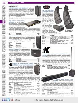 Line Array Speakers Spring/Summer 2012