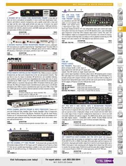 Mic Preamps & Voice Processors Spring/Summer 2012