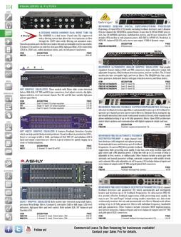 Signal Processors - Equalizers & Filters Spring/Summer 2012