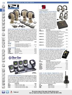 Intercoms - Wireless & Two-Way Radios Spring/Summer 2012