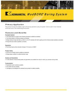 ModBORE Boring System  by Kennametal