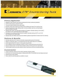 Counterboring Tools by Kennametal