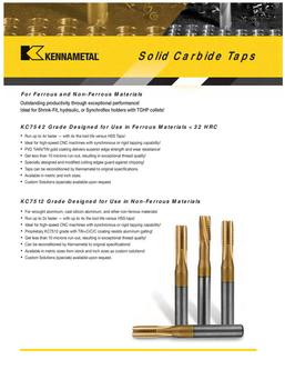 Solid Carbide Taps