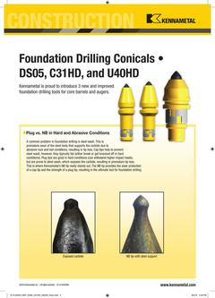 Foundation Drilling Conicals 2015