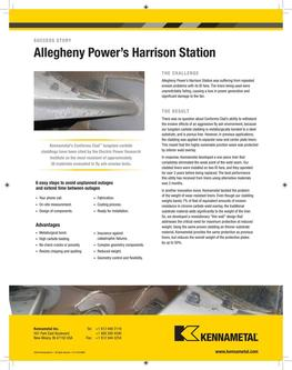 KMT Allegheny Power success story 2015