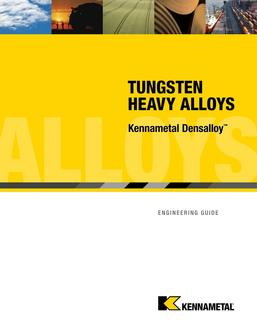 KMT technical engineering guide Densalloy 2015