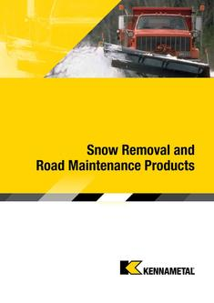 Snow Removal and Road Maintenance Products 2015
