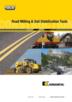Road Milling and Soil Stabilization Tools 2015