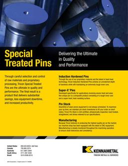 Kennametal Tricon Special Treated Pins 2015