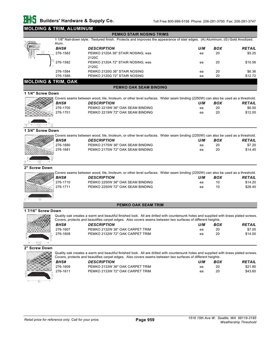Page 6 Of Weatherstrip Thresholds 2012