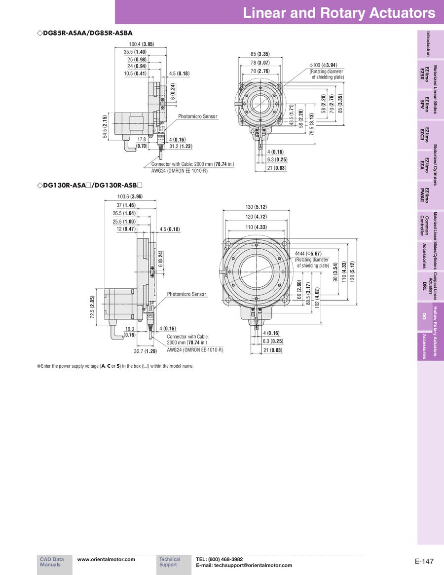 page 17 of hollow rotary actuators dg series 2012 2013 Wiring Color Standards p 17 23