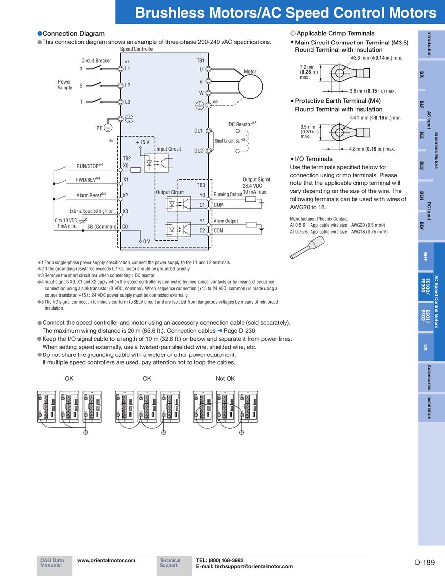 Page 14 Of Fe100 Fe200 Ac Speed Control Motors 2012 2013 Motor Controller Circuit That Can Be Used For Varying The P