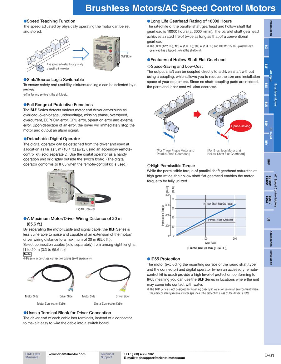 Blf Series Brushless Motors 2012 2013 By Oriental Motor Usa Wiring Diagram