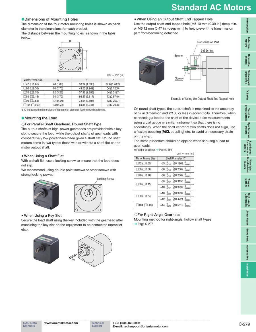 Ac Motors Installation 2012 2013 By Oriental Motor Usa Wiring Diagram