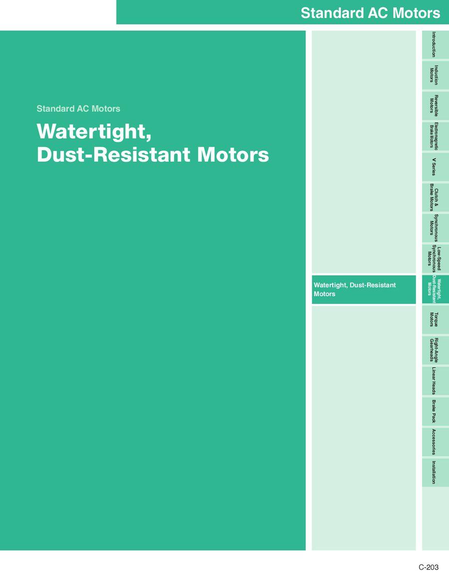 Watertight, Dust-Resistant Motors 2012/2013 by Oriental Motor USA
