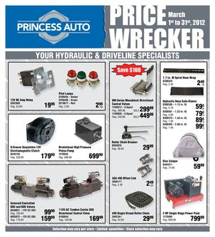 Price Wrecker March Driveline 2012