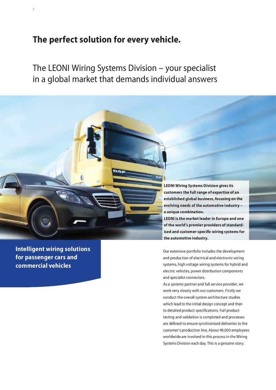 The best connection for the automotive industry by LEONI