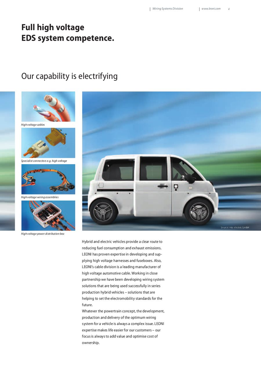 The Best Connection For Automotive Industry By Leoni Wiring Solutions P 1 14