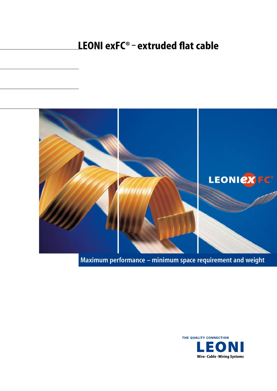 Flyer LEONI exFC® – extruded flat cable by LEONI