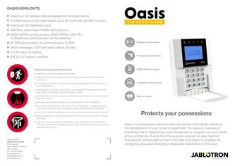 OASiS - Electronic security system (2010) in various languages