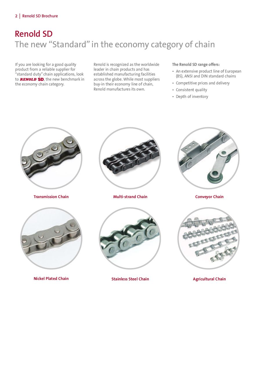 RENOLD® SD roller chains by Medway Power Transmission