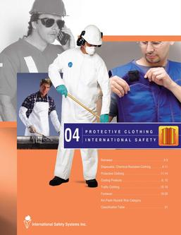 Catalogue: International Safety Systems Inc. Protective Clothing
