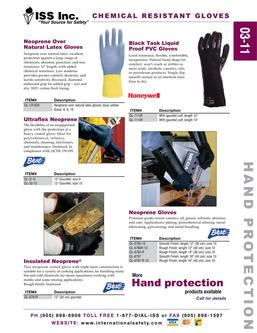 Catalogue: International Safety Systems Inc. Chemical Resistant Gloves