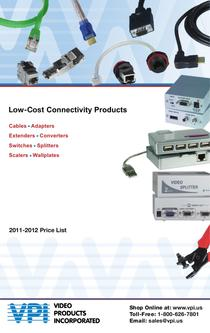 Low-Cost Connectivity Products 2011/2012