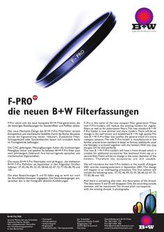 F-Pro is the name of the new compact filter generation