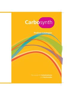 Carbosynth Complete Product Catalogue 2015