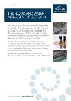 The Flood and Water Management Act 2016