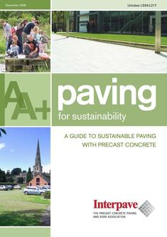 Interpave Paving for Sustainability 2016
