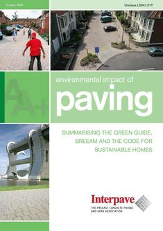 Interpave Environmental Impact of Paving 2016