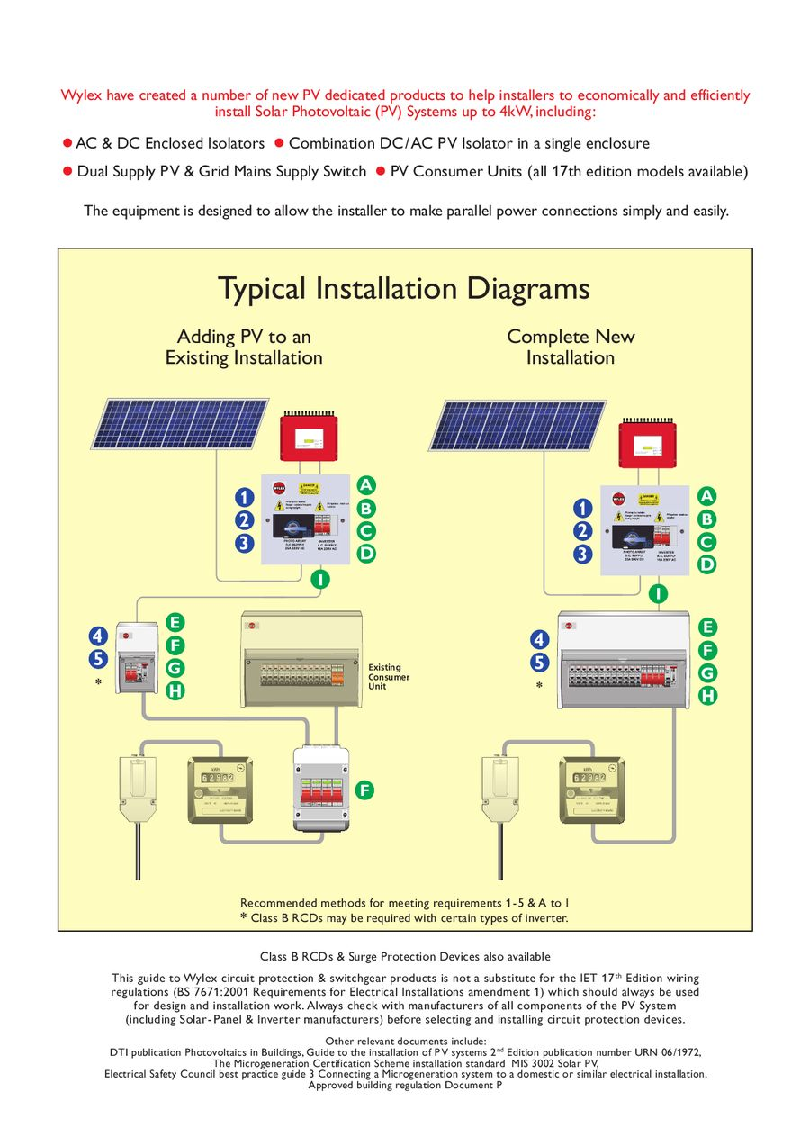 Solar Photo Voltaic Switchgear Solutions By Electrium 17th Edition Consumer Unit Wiring Diagram