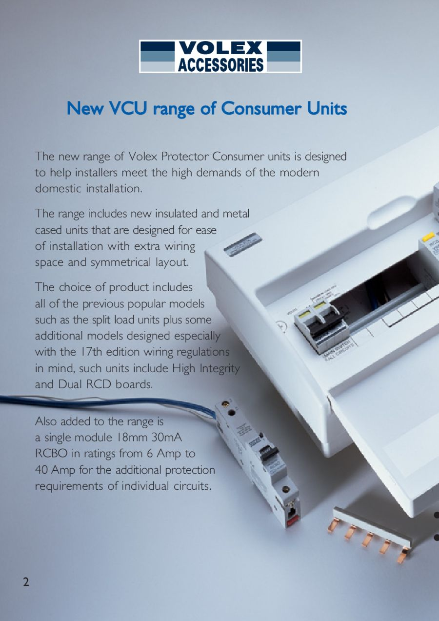 Volex Accessories Circuit Protection And The 17th Edition By Electrium Wiring Dual Rcd Consumer Unit