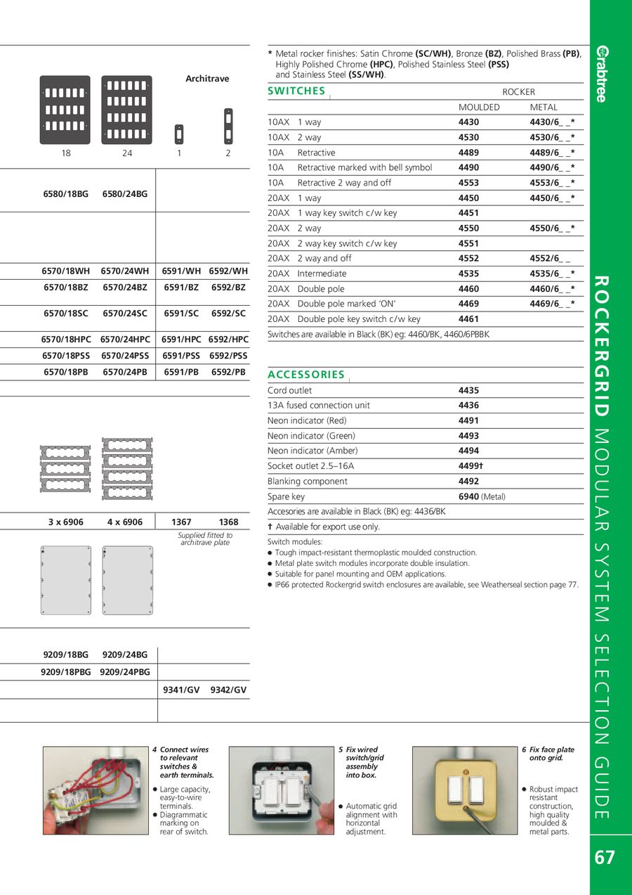 Page 69 Of 2007 Crabtree Catalogue Containing Industrial Products 2 Way Switch Earth P 276